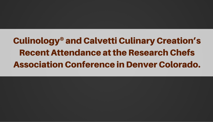 Culinology and the Innovation of Food
